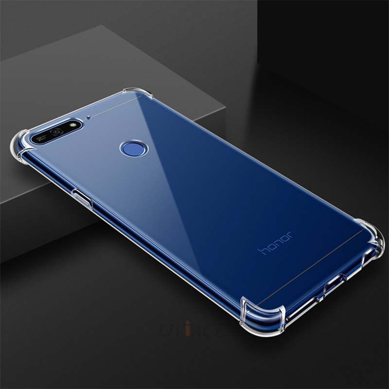 Airbag Transparent clear tpu phone case for huawei on honor 7a 7c pro 7s 7x v10 v9 play Magic 8x 9i view note 10 9 8 lite cover(China)