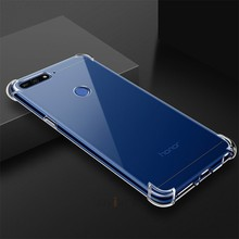 Airbag claro Transparente tpu caixa do telefone para huawei em honor 7a 7c pro 7s 7x v10 v9 jogar Magic 8x 9i vista nota 10 9 8 cobertura lite(China)
