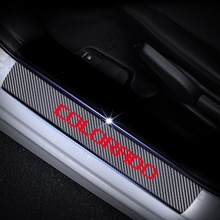 For Chevrolet COLORADO Car Door Sill Decoration Scuff Plate Carbon Fibre Vinyl Sticker 4pcs