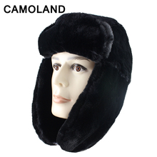 Winter Bomber Hats Men Women Soviet Army Military Russia Ushanka Pilot  Trapper Trooper Hat Warm Soft Faux Fur Earflap Snow Caps 6ac046139e0f