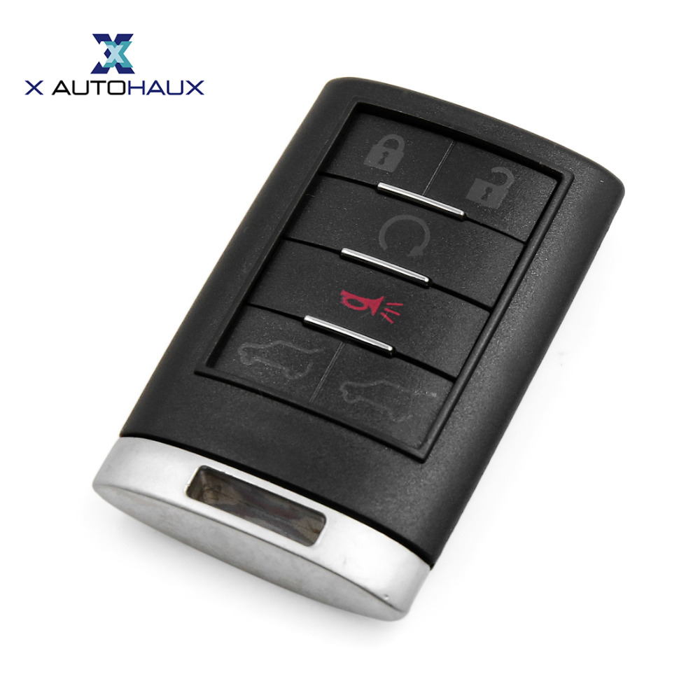 X AUTOHAUX 6 Buttons M3N5WY8109 850K-6000066 Insert Key Remote Shell Replacement OUC60270 For Cadillac Escalade 2007 TO 2014
