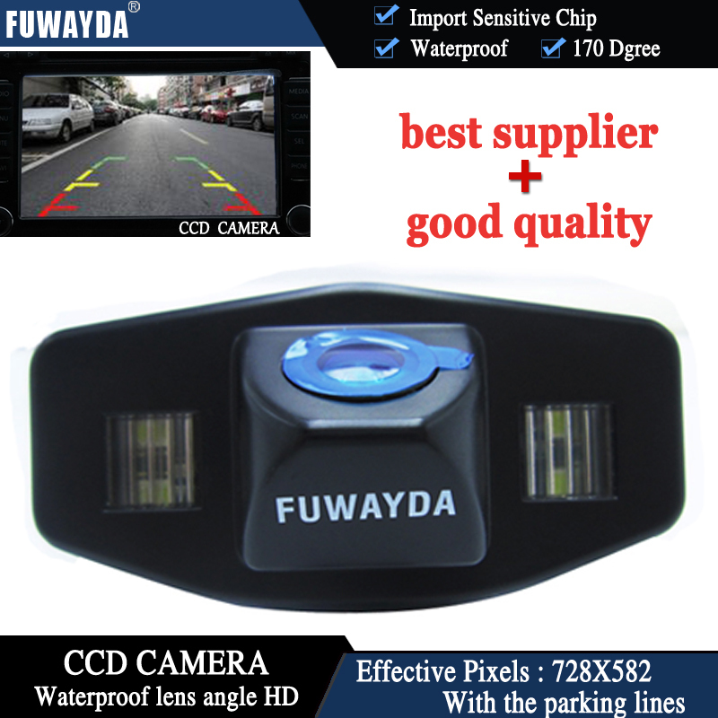 FUWAYDA CCD Night Vision Waterproof Car Reverse Backup Parking Rear View Camera FOR Honda Accord Pilot Civic Odyssey Acura TSX
