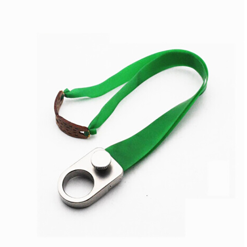 New Hunting Slingshot Ring Catapult Stainless Steel Metal + Rubber Band Finger Slingshots Hunt Outdoor Tool Accessories