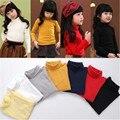 Preço de fábrica crianças T-shirt do bebê menina & do menino t básico camisa de cor sólida de algodão unisex crianças da longo-luva camisola de gola alta tshirt