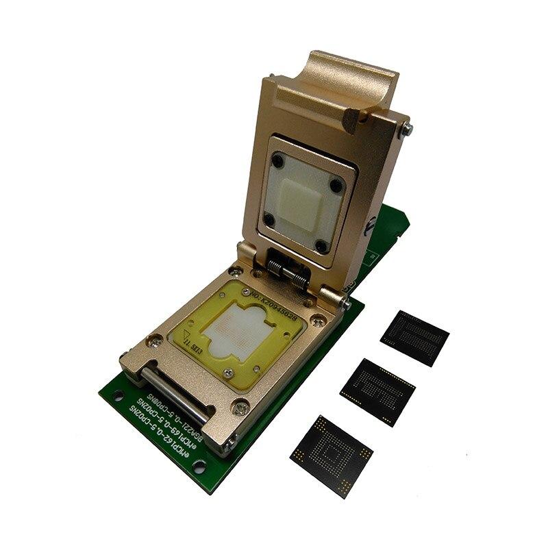 Купить с кэшбэком 3 IN 1 eMMC socket eMMC153/169 eMCP162/186 eMCP221 Pogo Pin Test Socket Reader BGA153 169 162 186 Data Recovery SD Interface