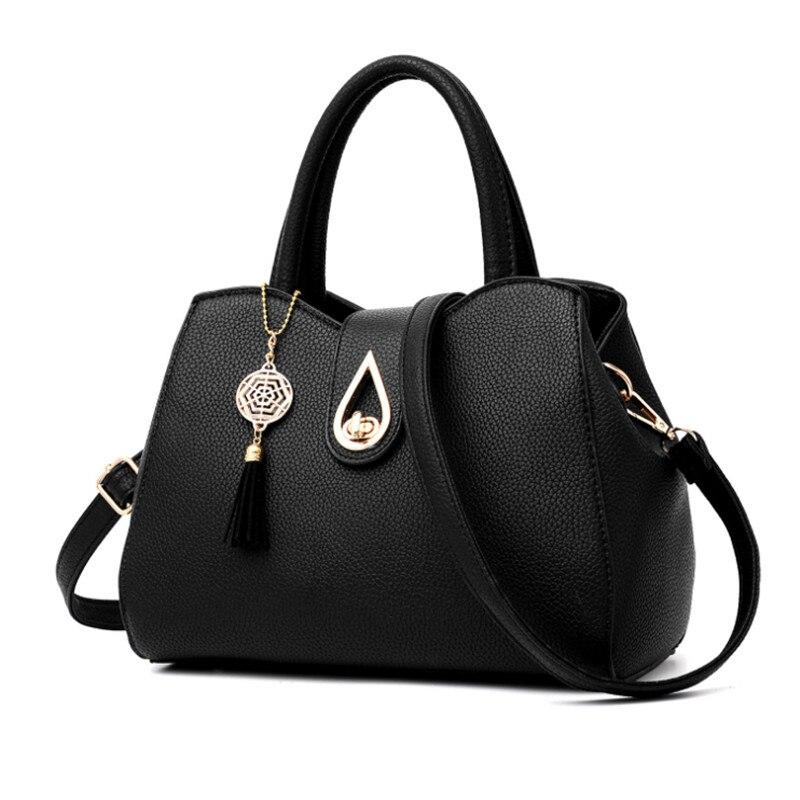 Female Bags Fashion Trend Luxury PU Leather Women Handbag 2017 New Arrival metal Lock Shoulder Bag Ladies Large Hobos Tote