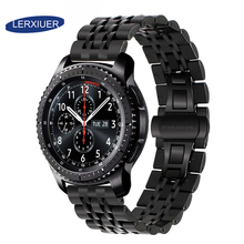 Lerxiuer 22mm band for Samsung Galaxy watch 46mm strap Gear S3 Frontier Stainless steel Huawei GT S 3 46