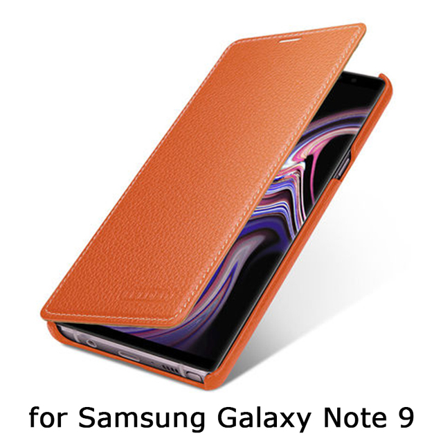 uk availability 93ce3 db056 US $42.29 10% OFF|For Samsung Galaxy Note 9 Case Handmade Custoom Luxury  Genuine Leather Skin Business Flip Shell for GALAXY Note9 Note 9 Cover-in  ...