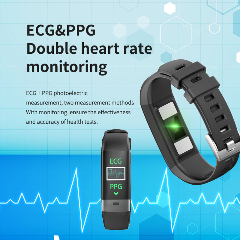 Image 2 - Smart Bracelet G36 ECG PPG Heart Rate Smart Band Sleep Monitor Fitness Tracker Blood Pressure Watch Color Screen Multisport Band-in Smart Wristbands from Consumer Electronics