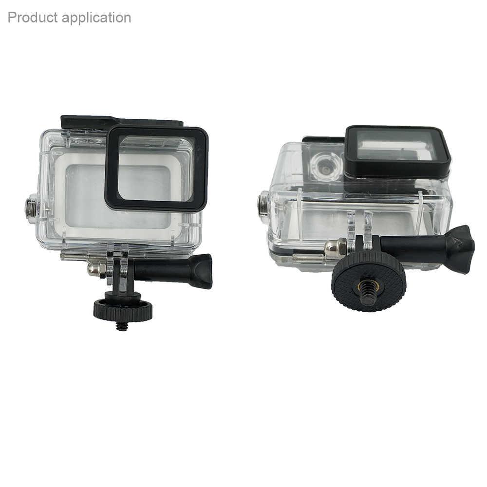 2 sztuk iść akcesoria pro statyw statyw z mocowaniem Adapter do GoPro 8 7 6 5 4 YI 4K Sj4000 H8 H9 DJI OSMO akcesoria do kamer akcji