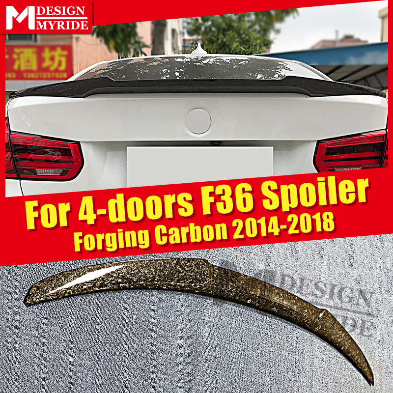 F36 Spoiler Wing Fits For BMW 4 Series 420i 430i 430iGC 440i 4-door Hard Top AEM4 Style Forging Carbon Rear Trunk Spoiler 14-18
