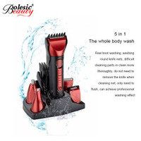 Men's Razor Rechargeable Waterproof Trimmer Shaving Machine Ear Nose Multifunctional Hair Clipper Set Freeshipping 5in1 Washable