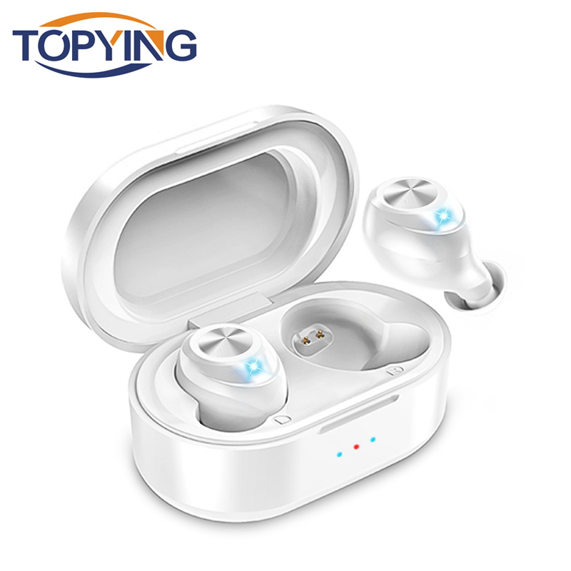 Bluetooth Earphone Wireless Headset Stereo <font><b>Tws</b></font> Earbuds Headset With Charging Box Mic For Iphone for huawei P20 p20 image
