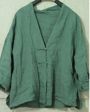 New product launches in the fall of 2015, the original design loose big yards silk linen shirt in women
