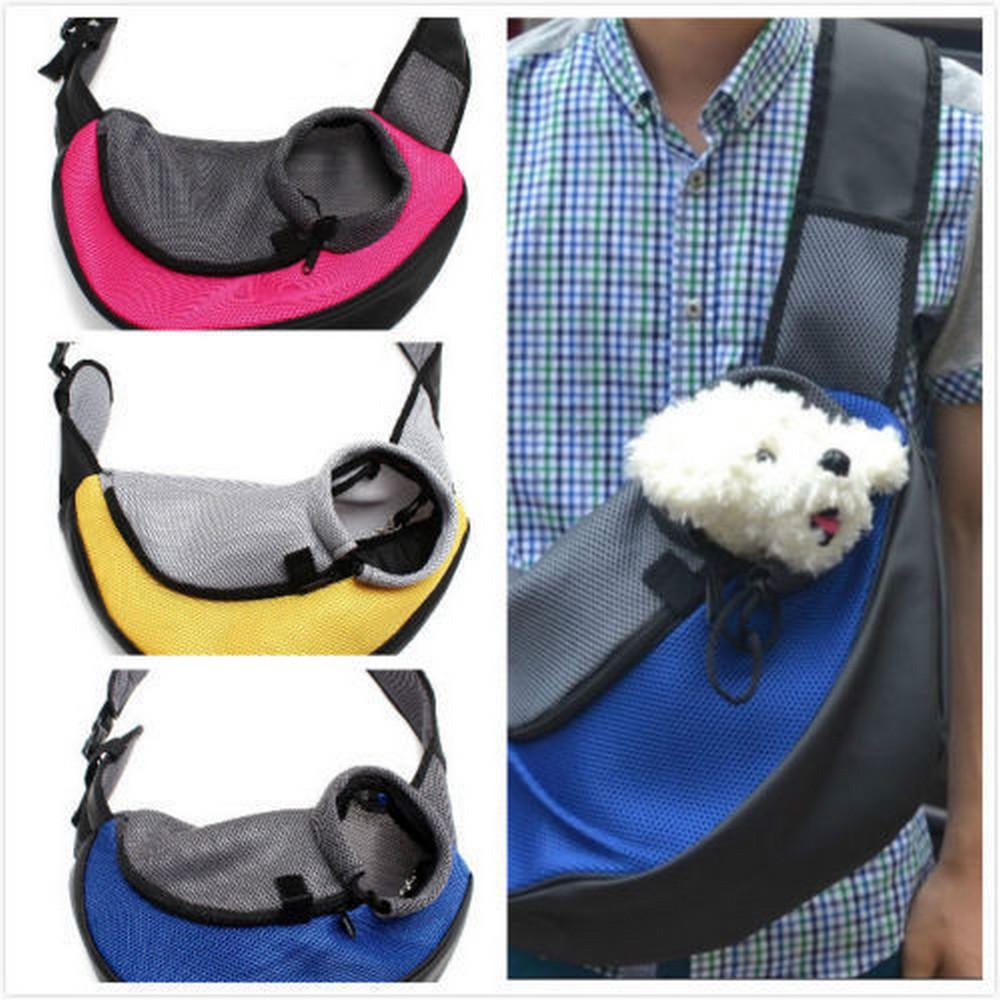 Pet carrier carrying cat dog puppy small animal sling front carrier mesh comfort travel tote - Pattern for dog carrier sling ...