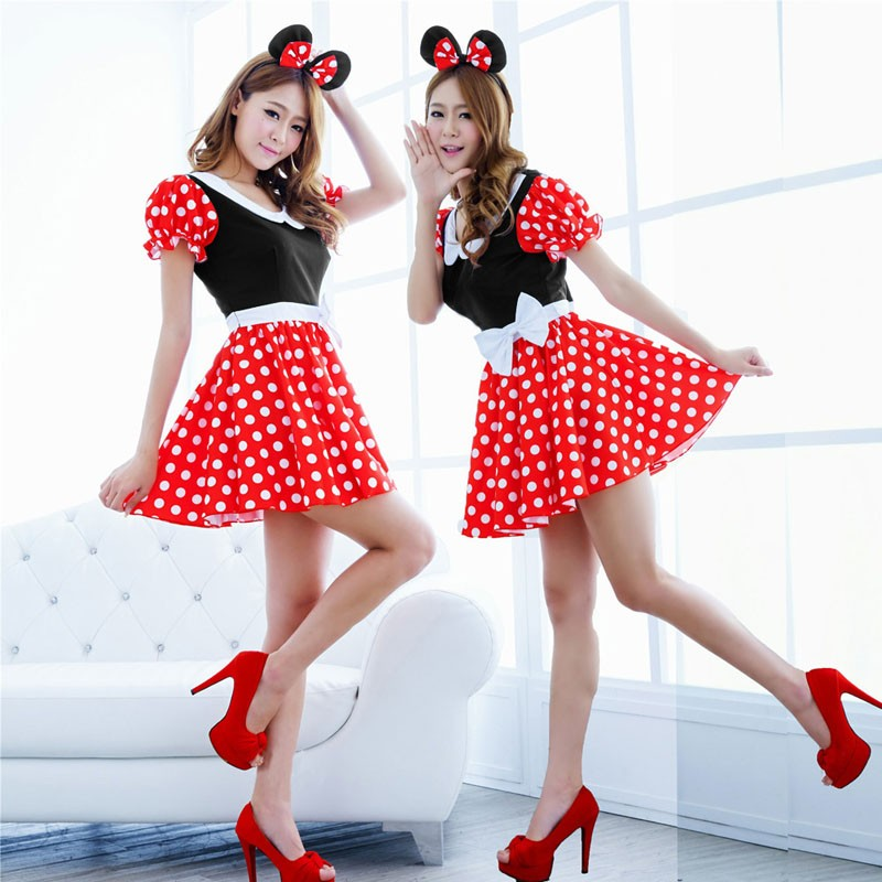 Adult Cute Cartoon Outfit Nifty Minnie Princess Christmas Cosplay Halloween DS Nightclub Costume Japanese Anime Xmas Dress BY005