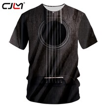 CJLM Brand Guitar art Musical instrument Summer 3D full printing fashion t shirt print hip hop style tshirt streetwear casual(Hong Kong,China)
