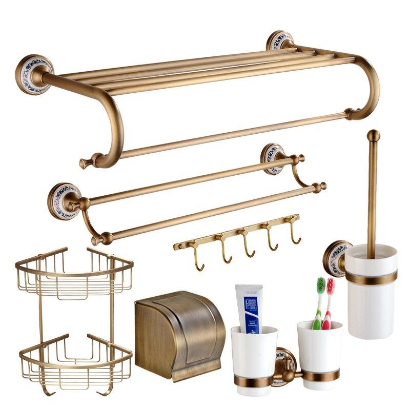 Solid brass ceramic bathroom accessories set antique - Wall mounted ceramic bathroom accessories ...