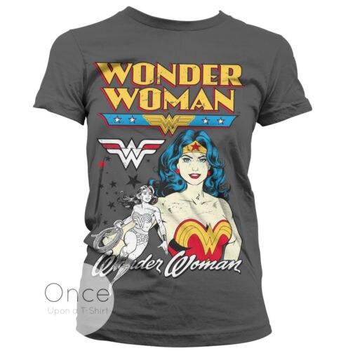 222b43cb351 DC Comics Wonder Woman Classic women's T shirt gift casual cotton tee USA  Size XS-2XL
