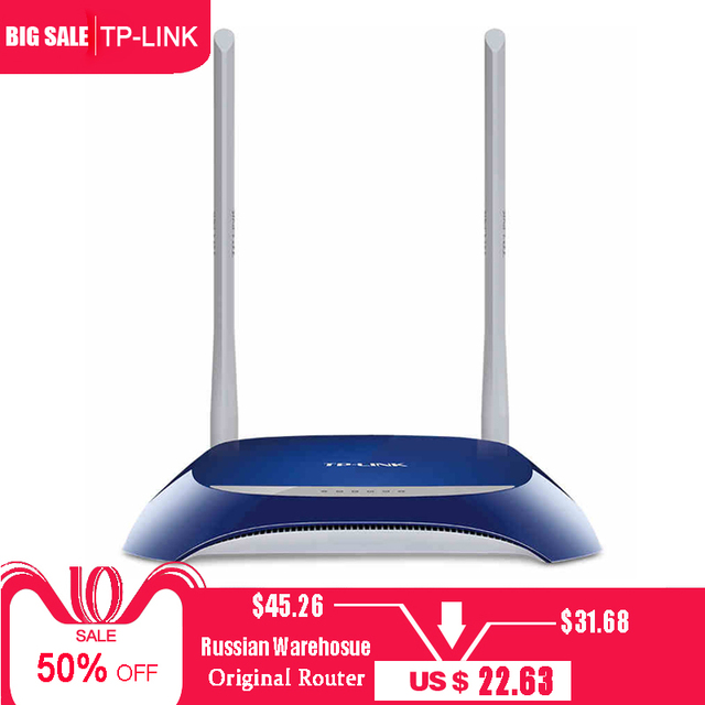 US $45 26 |TP Link Wireless Router 300M Wifi router TL WR841N 2 4G Wireless  router Wifi repeater TP LINK 802 11b Phone APP Routers في TP-Link