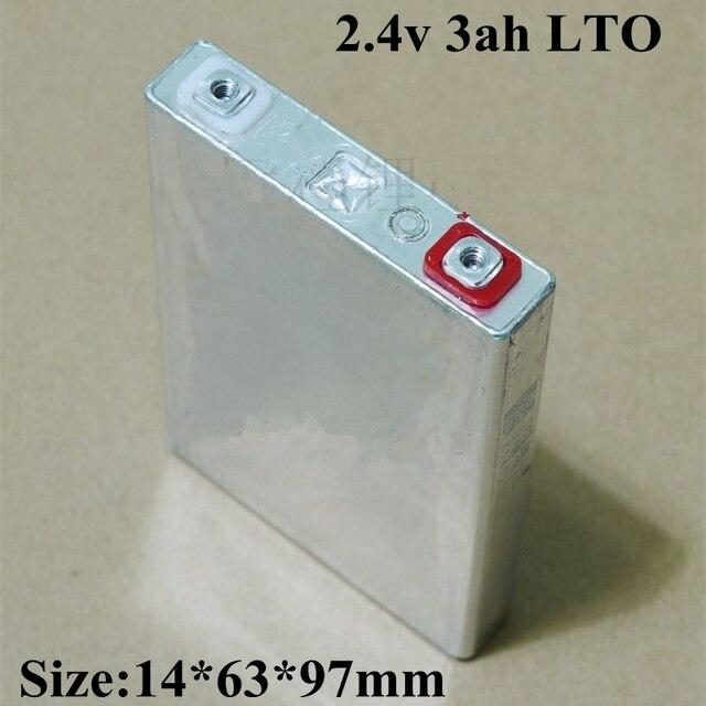 5pcs Lithium titanate batterij 2.4V 3AH LTO bateria voor DIY 12V 24V 48V motor 2.5L 1.8L sedan auto batterij E fiets
