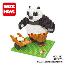 WISE HAWK Panda Po  blocks ego legoe star wars duplo lepin toys playmobil castle starwars orbeez figure doll car brick