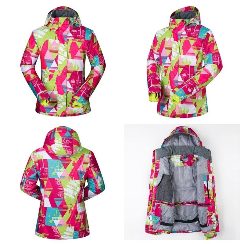 RAY GRACE veste de neige femmes hiver extérieur manteau imperméable coupe-vent respirant sport thermique Parka randonnée Ski snowboard - 4