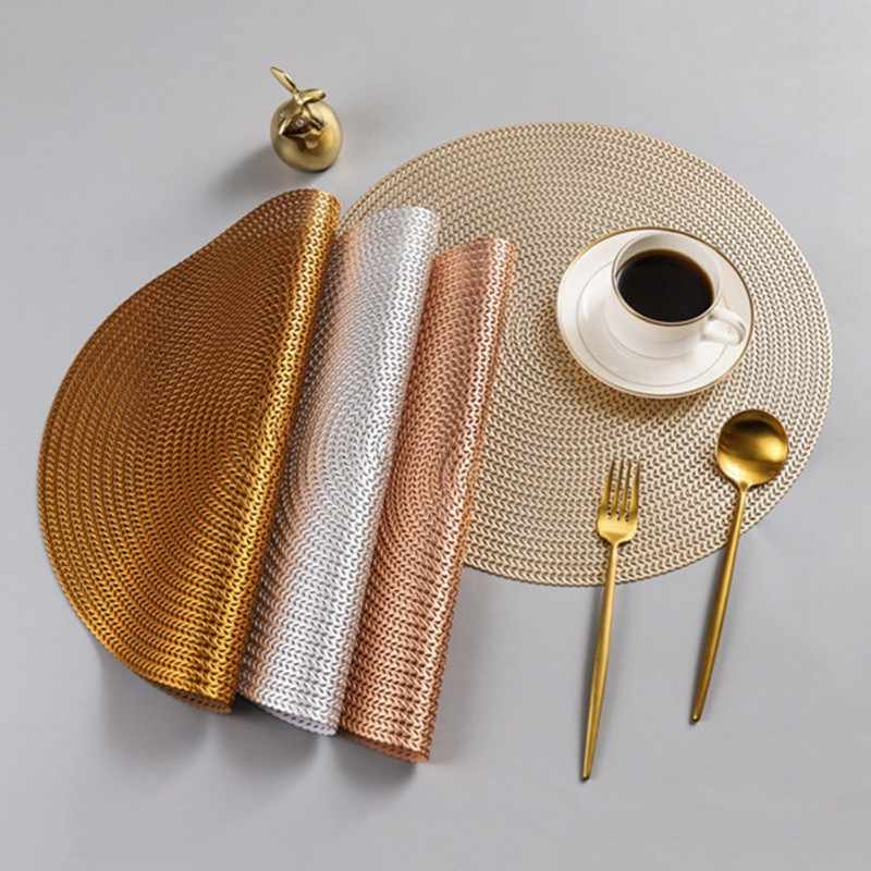 38 см круглый из ПВХ тарелка Скандинавская анти-скальдинг Подставка под горячее гостиничный Ресторан кофейная чашка стейк коврик украшение стола