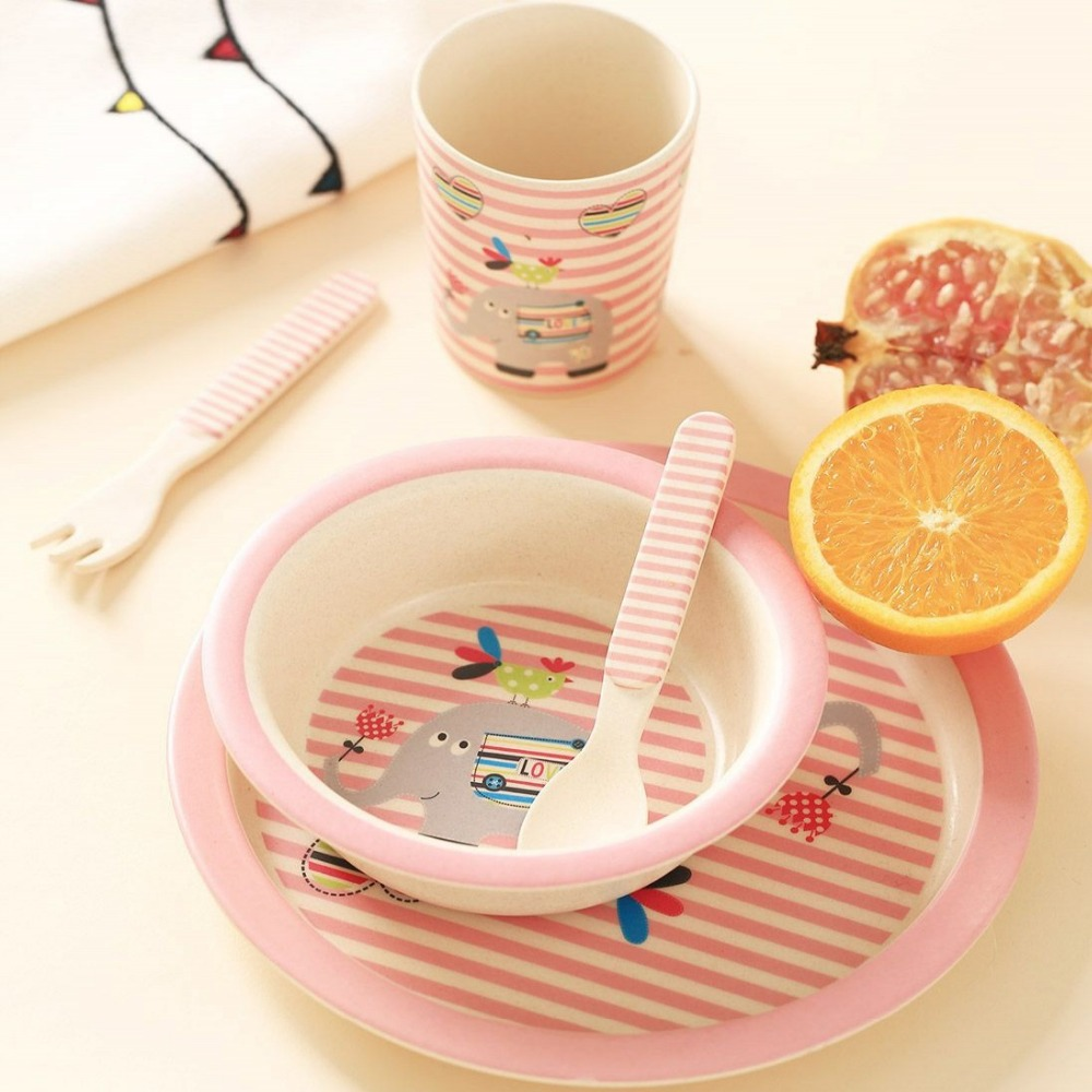 Aliexpress.com  Buy 5pcs/set Character baby Plate bow cup Forks Spoon Dinnerware feeding Set100% bamboo fiber Baby children tableware set from Reliable ...  sc 1 st  AliExpress.com & Aliexpress.com : Buy 5pcs/set Character baby Plate bow cup Forks ...