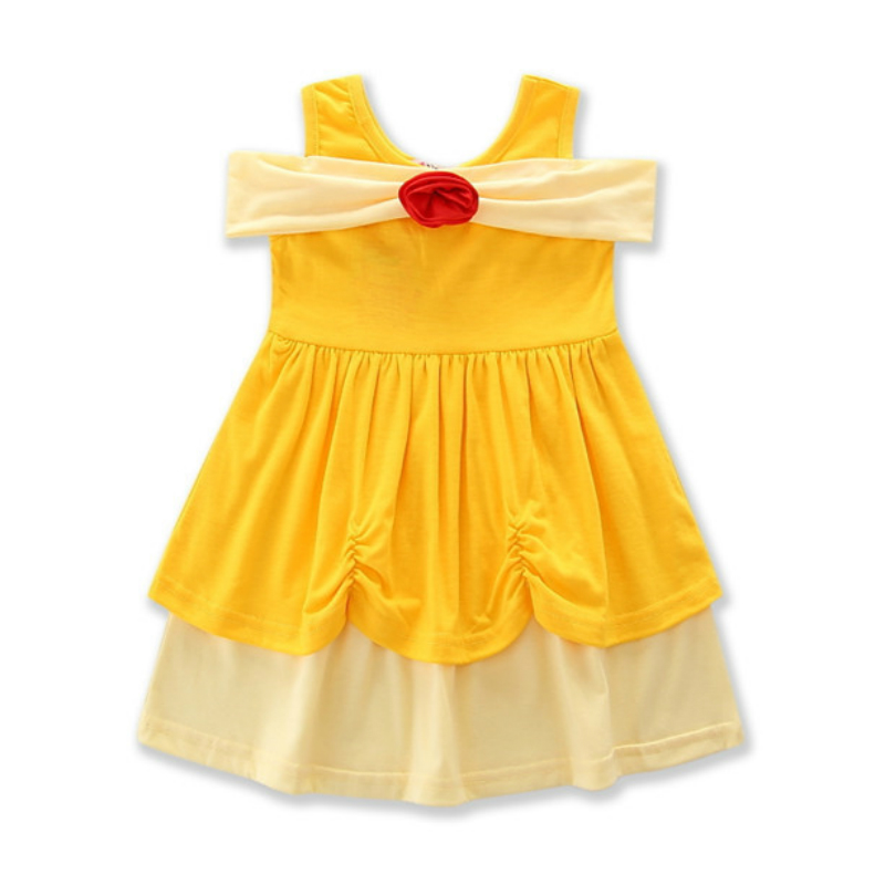 Summer Girls Dress Snow White Belle Princess Dresses Kids Halloween Party Cosplay Dresses Costume Minnie Mouse Children Clothing christmas halloween princess dress cosplay snow white dress costume belle princess tutu dress kids clothes teenager party 10 12
