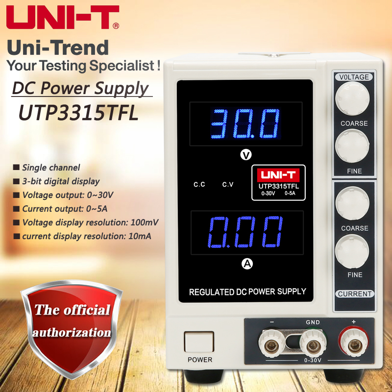 UNI-T UTP3315TFL single-channel linear DC power supply 0 to 30V / 0 to 5A s9018 50ma 30v to 92