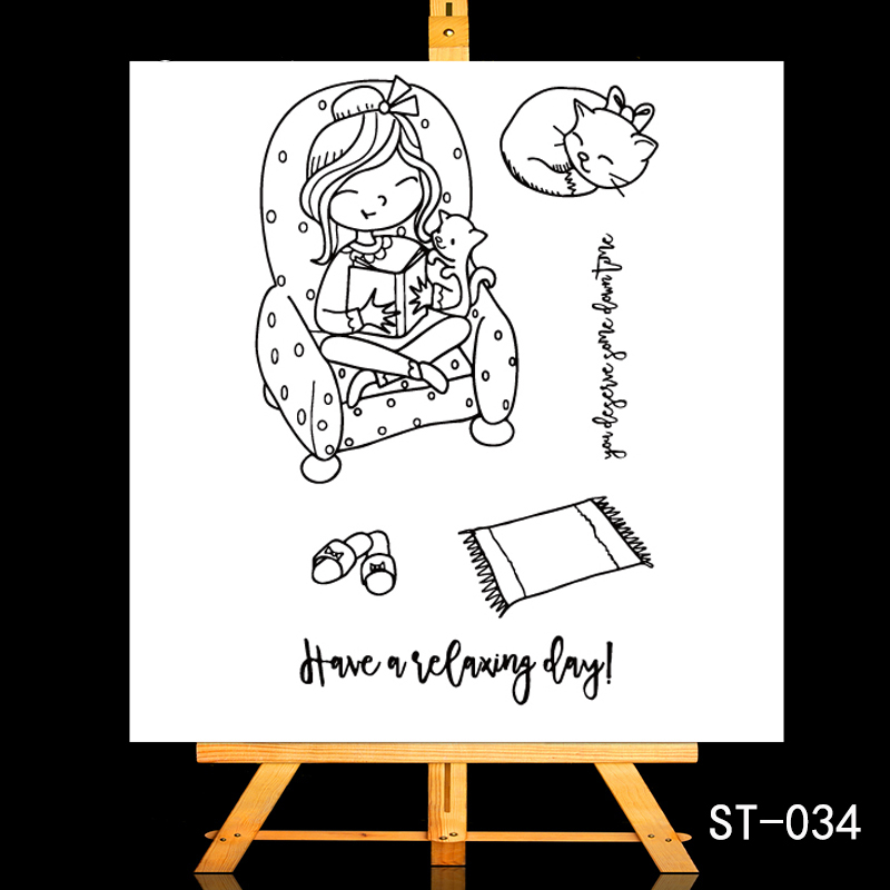 ZhuoAng Reading day Weekend status Transparent and Clear Stamp DIY Scrapbooking Album Card Making DIY Decoration Making in Stamps from Home Garden