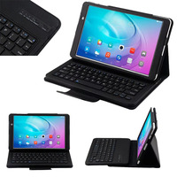 Detachable Wireless Bluetooth Keyboard Stand Leather Cover Case For Huawei MediaPad M2 10 1 FDR A01W