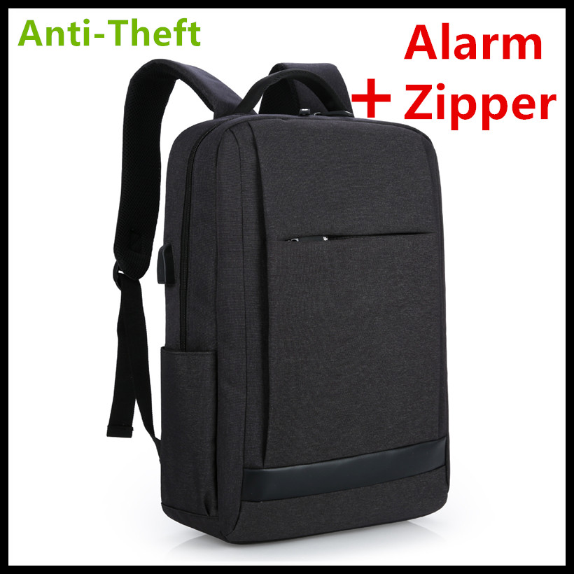 New Laptop Backpack Alarm Zipper Real Anti-theft External USB Charge Computer Backpacks Waterproof Bags for Men Women Good Price