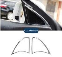 Chrome Car Door Sound Speaker Cover Frame Trim For Mercedes Benz CLA 200 220 260 2014