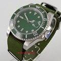 40 мм синий циферблат с керамическим сапфировым стеклом автоматические мужские часы