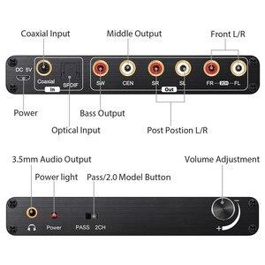 Image 2 - Décodeur Neoteck 192kHz DAC 5.1CH décodeur Audio numérique prise en charge AC 3/DTS optique Coaxial à 6 RCA 3.5mm Jack adaptateur Audio