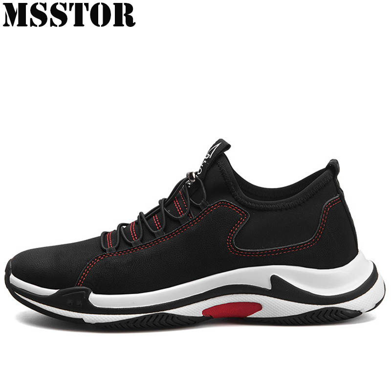 MSSTOR 2018 Men Running Shoes Man Brand Sport Shoes For Men Genuine Leather Sports Run Outdoor Athletic Breathable Mens Sneakers msstor women running shoes woman brand summer breathable sport shoes for men outdoor athletic lovers men running shoes sneakers