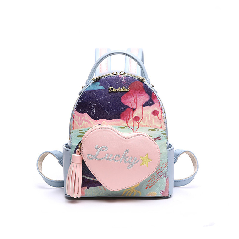 цены  Floral Printing Backpack Preppy Style School Backpack Pu Leather Fashion Women Shoulder Bag For Teens Girls Bolsa Feminina 2017