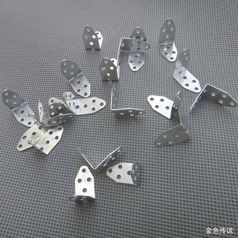 20 Pcs L-Jenis Logam Plum Bingkai Poros Sudut Perlengkapan DIY Mainan Aksesoris Model Mobil Axle Bracket F17621