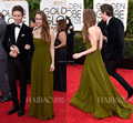 Hannah Bagshawe Strapless Sleeveless Chiffon floor-Length 72nd Golden Globe Awards Celebrity Dresses 2015 Open Back Sexy Gowns