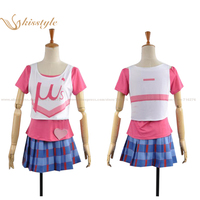 Kisstyle Fashion Love Live! Rin Hoshizora Clothing Cheerleader Uniform Cosplay Costume,Customized Accepted