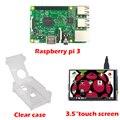 """RS Raspberry Pi 3 Модель B + 3.5 """"LCD Сенсорный Экран стилусом + Акриловый Чехол для Raspberry pi 3 комплект Бесплатная Доставка"""