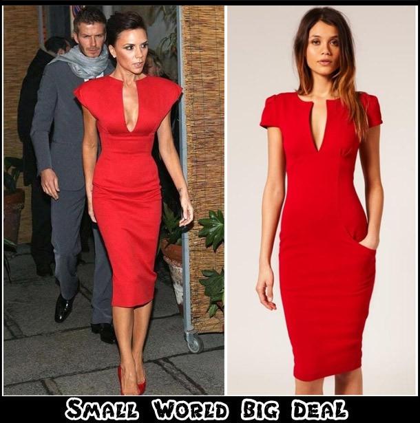 Fashion Quality Celebrity Queen Victoria Beckhem Style Pencil Dress