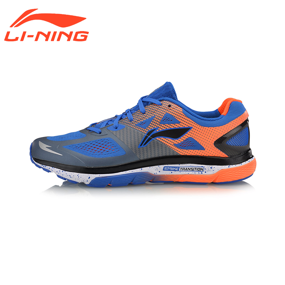 Li-Ning Men Cushion Running Shoes Breathable Textile Sneakers Support TPU LiNing Sports Shoes ARHM057 li ning brand men basketball shoes sonicv series professional camouflage sneakers support lining breathable sports shoes abam019