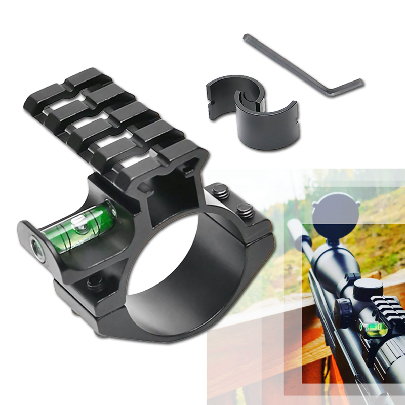 Tactical 25.4/30mm Barrel Ring Spirit Rifle Bubble Level Scope Mount Fit 20mm 4 Slots Picatinny Weaver Rail For Hunting HT2-0049