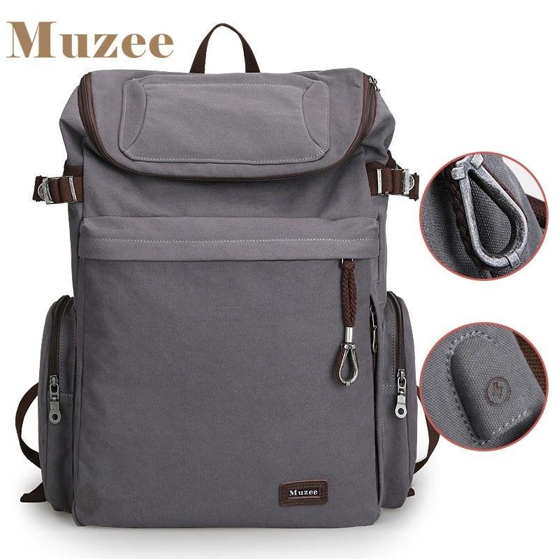 62a682bde 2019 جديد Muzee العلامة التجارية حقيبة للظهر فينتاج كبيرة قدرة الرجال  الذكور الأمتعة حقيبة حقائب سفر
