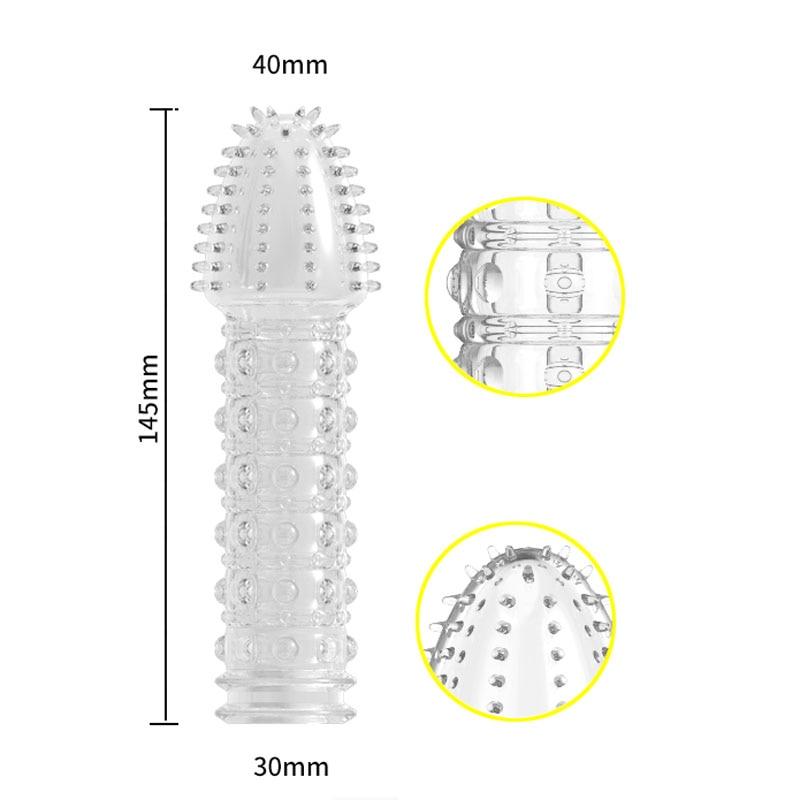 hc040Penis Extension Condom Enlargement Reusable Cock Sleeve (23)