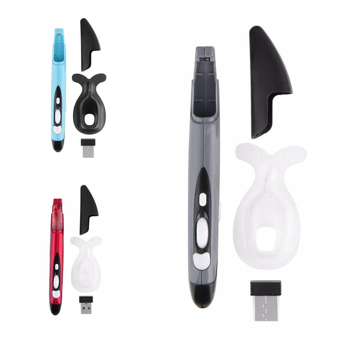 NOYOKERE Mini 2.4GHz USB Wireless Mouse Optical Pen Air Mouse Adjustable 500 / 1000DPI for Laptops Desktops Computer Peripherals