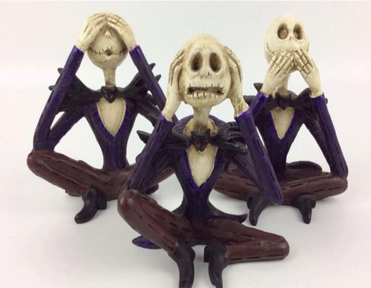 Halloween skull resin handicrafts three small ornaments jewelry Halloween Gift Ideas